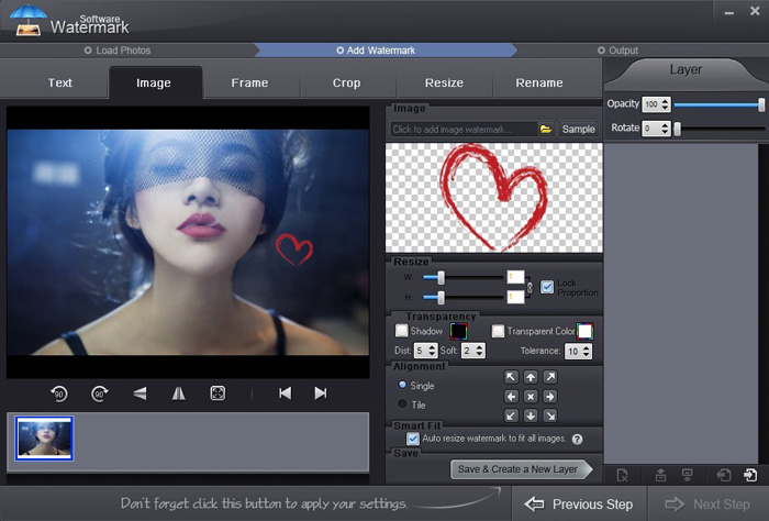 How to watermark photos with Watermark Software