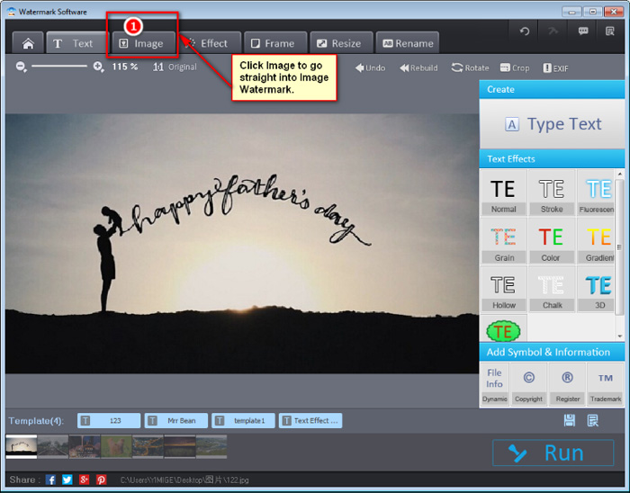 Add watermark to image - image watermarking software
