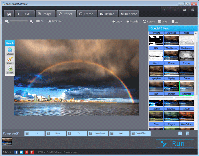 Post processing rainbow photography