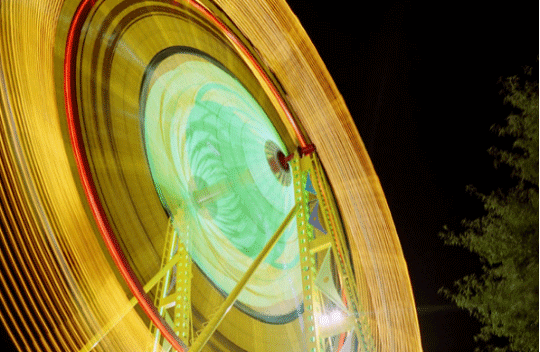 Long exposure shoots of Ferris Wheel at night
