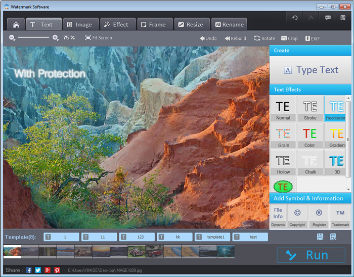 Watermark Software adds watermark protection