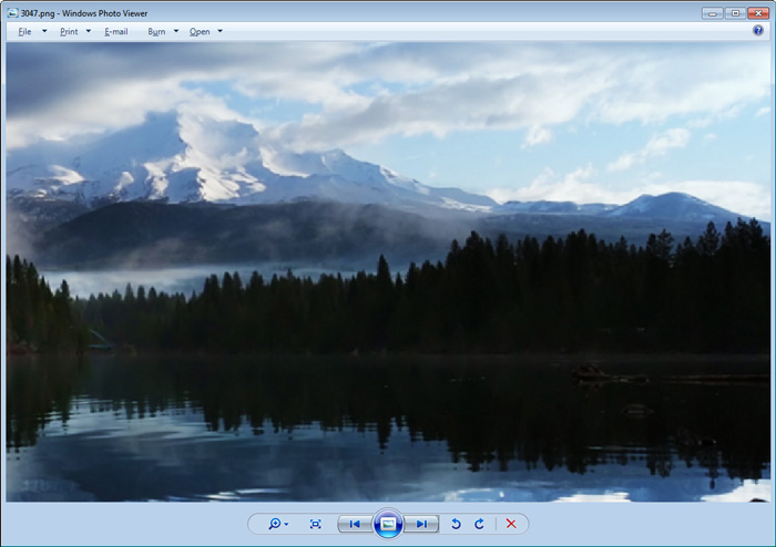 Screenshot of free photo viewer for Windows